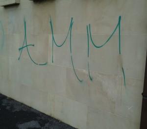 Graffiti 'Heaslips' - Before